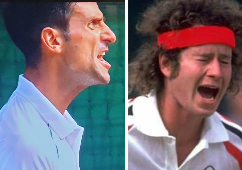 John McEnroe vs Djokovic,  Matinya Servis dan Voli