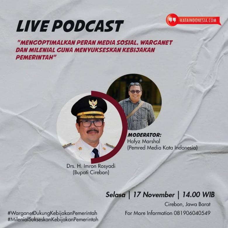 """""""Kata Indonesia"""" Ajak Warganet dan Milenial Sukseskan Kebijakan Pemeritah"""